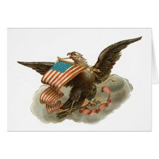 Eagle des alten Ruhmes Grußkarte