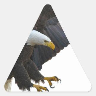 Eagle Dreieckiger Aufkleber