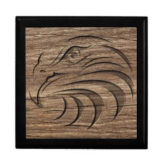 Eagle-Entlastung, die auf exotischem Hartholz Erinnerungskiste