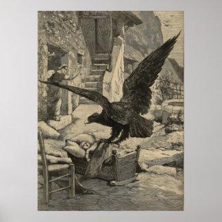 Eagle erhielt mein Baby - Zeitungsdruck mit 1899 F Poster