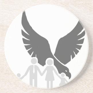 Eagle/Falke/Raben-/Familienschutz 2 Untersetzer