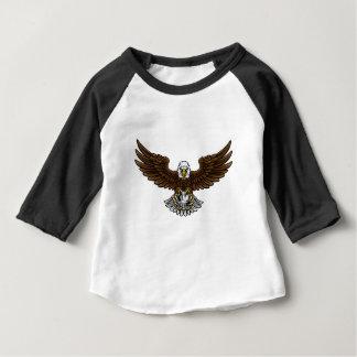 Eagle-Fußball-Fußball-Maskottchen Baby T-shirt