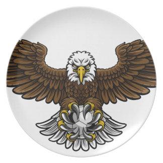 Eagle-Fußball-Fußball-Maskottchen Teller
