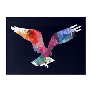 Eagle-Geist-Tier-Vogel. Totem. Aquarell-Kunst Acryldruck