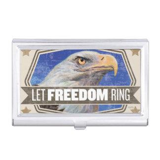 Eagle-Gelassener Freiheits-Ring Visitenkarten Dose