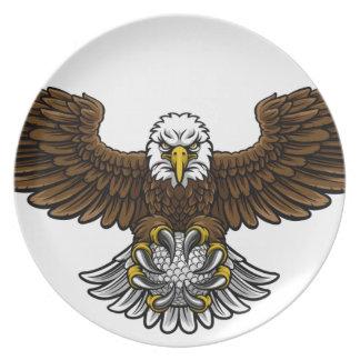 Eagle-Golf trägt Maskottchen zur Schau Melaminteller