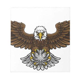 Eagle-Golf trägt Maskottchen zur Schau Notizblock