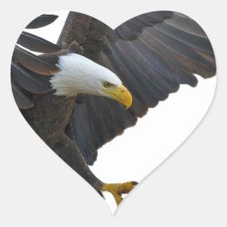Eagle Herz-Aufkleber