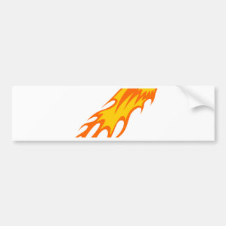 Eagle in den Flammen Autoaufkleber