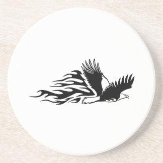 Eagle in den Flammen Getränkeuntersetzer