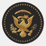 Eagle ist… gelandet runde sticker