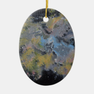 Eagle nebula ovales keramik ornament