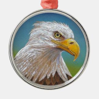 Eagle Rundes Silberfarbenes Ornament