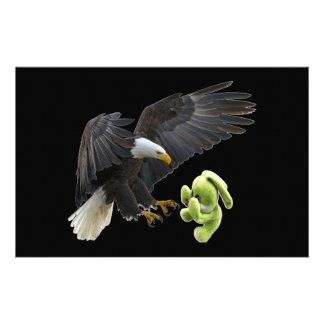 Eagle-Schrecken zu einem Teddybären Briefpapier