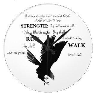 Eagle-Schrifts-Uhr Große Wanduhr