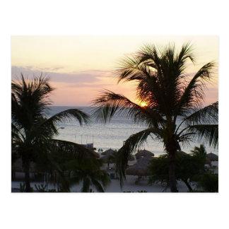Eagle-Strand-Aruba-Sonnenuntergang-Postkarte Postkarte