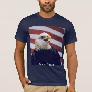 Eagle u. Flagge T-Shirt