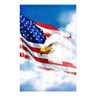 Eagle und amerikanische Flagge Briefpapier