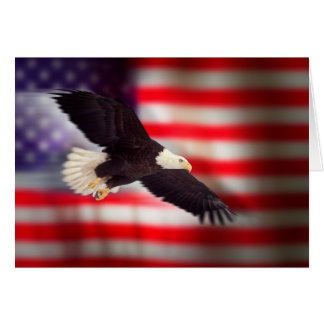 Eagle und Flagge-Gruß-Karte Grußkarte