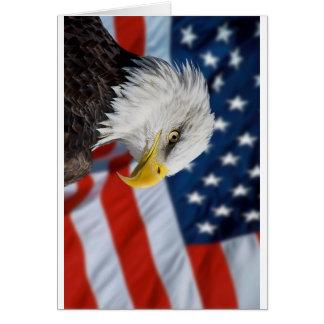 Eagle und Flagge Grußkarte
