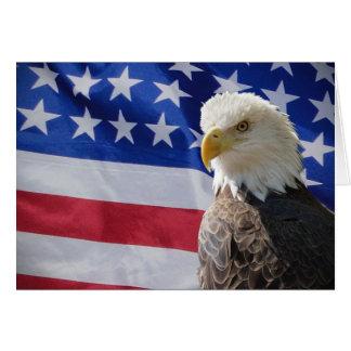 Eagle und Flaggen-Karte Mitteilungskarte