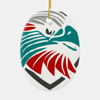 Eaglestolz und -schutz ovales keramik ornament
