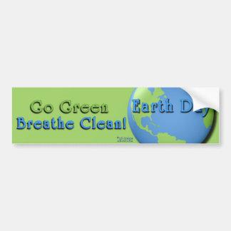 EarthDay Grün: Gehen Grün, atmen sauberes! Autoaufkleber