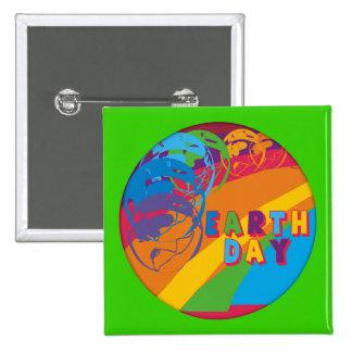 Earthday T-Shirts und Geschenke Quadratischer Button 5,1 Cm