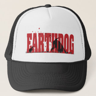 Earthdog schwarze/rote Silhouette Truckerkappe