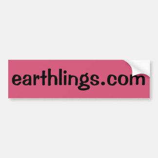 Earthlings.com Autoaufkleber