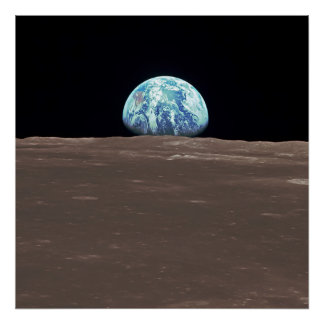 Earthrise vom Mond Poster