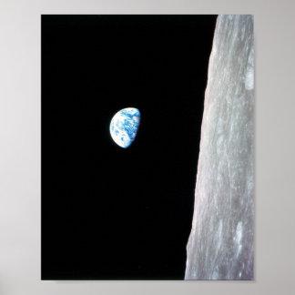 Earthrise von Apollo 8 Poster