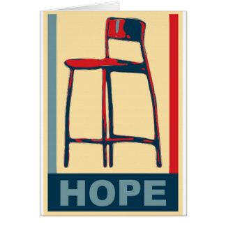 Eastwooding unsichtbarer Obama Stuhl der Hoffnung Karte