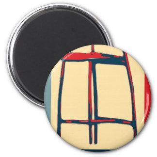 Eastwooding unsichtbarer Obama Stuhl der Hoffnung Runder Magnet 5,1 Cm
