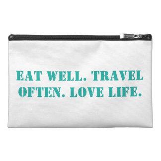 Eat well. Travel often. Love life. Bag