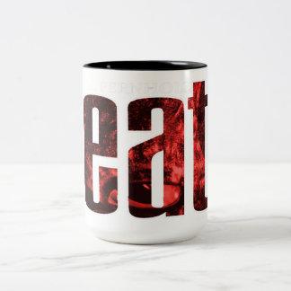 eat ... wer die Hungrigen weckt Zweifarbige Tasse