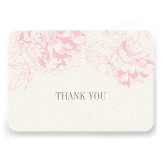 Ebene danken Ihnen kardiert rosa Einladung