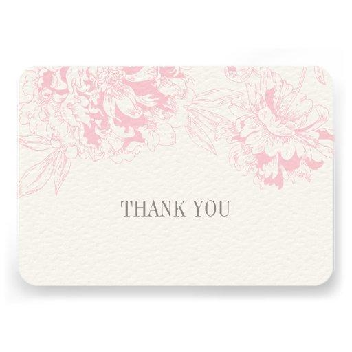 Ebene danken Ihnen kardiert | rosa Einladung