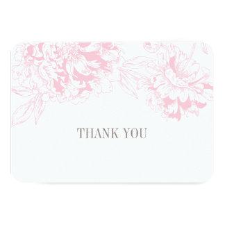 Ebene danken Ihnen kardiert | rosa 8,9 X 12,7 Cm Einladungskarte