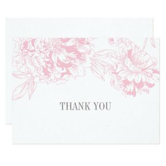 Ebene danken Ihnen kardiert | rosa Karte