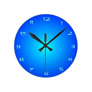 Ebenen-Blau mit Aqua-Mitte-   > Küchen-Uhren Runde Wanduhr