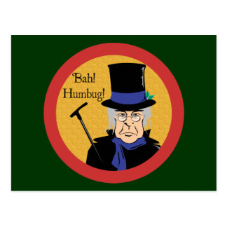 Ebenezer Scrooge Postkarte