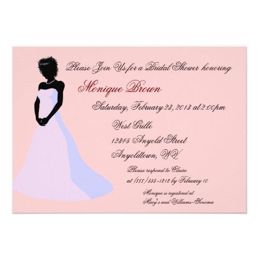 Ebenholz-Braut-kundenspezifische Duschen-Einladung