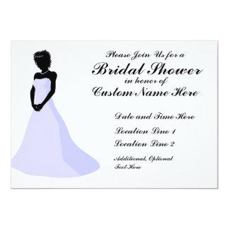 Ebenholz-Braut-kundenspezifische Duschen-Einladung 12,7 X 17,8 Cm Einladungskarte