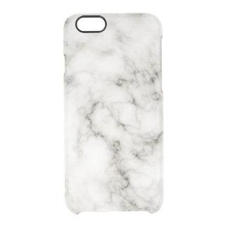 Ebenholz-Elfenbein-Marmor-Schwarz-weißer Durchsichtige iPhone 6/6S Hülle