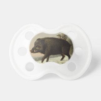 Eber-Schwein-Vintage deutsche Malerei Schnuller
