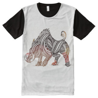 Eber T-Shirt Mit Komplett Bedruckbarer Vorderseite