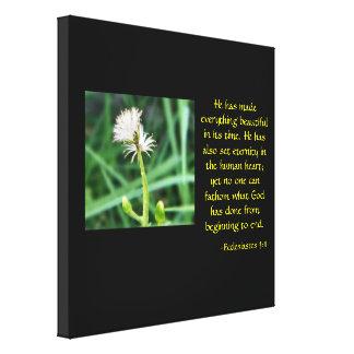 Ecclesiastes 3:11 mit Blumen Leinwanddruck