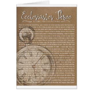 Ecclesiastes drei, religiöse Ermutigung Karte