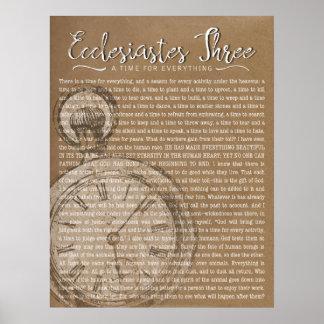 Ecclesiastes drei, Vintage Uhr Poster
